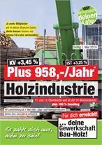 Plakat Holzverarbeitende Industrie