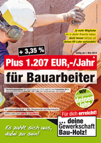 Plakat Bauindustrie, Baugewerbe